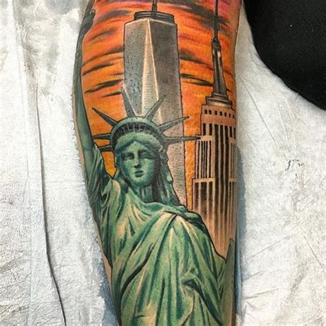 new york tattoo bagpipes amazing new york city sleeve tattoo venice tattoo art