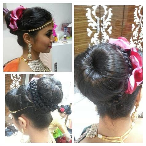 Bridal Bun Hairstyles by South Indian Bridal Hairstyles For Receptions