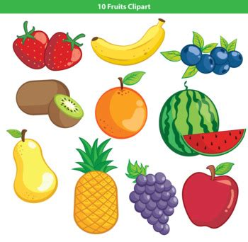 fruits and vegetables clipart 10 fruits clipart by mr guera s studio teachers pay