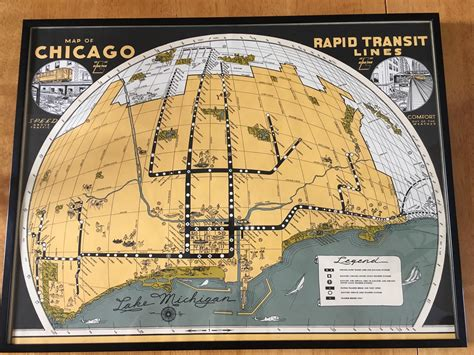 chicago map 1930 chicago l railway map from the 1930s x post from r