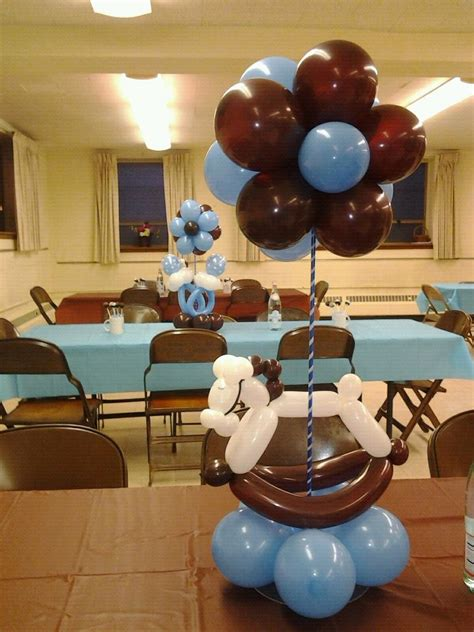 Brown And Baby Blue Baby Shower Decorations by Manificent Design Blue And Brown Baby Shower Decorations