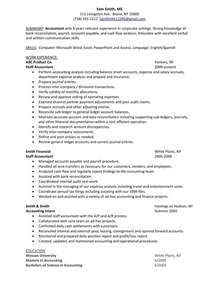 sle resume for accounting position entry level staff accountant resume exles best