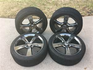 What Makes Car Tires Black Dodge Dart 18in X 7 5in Hyper Black Alum Wheels On 225