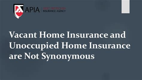 vacant home insurance and unoccupied home insurance are