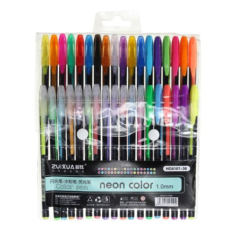 color pen set 36 colors gel pen set coloring book ink pens drawing