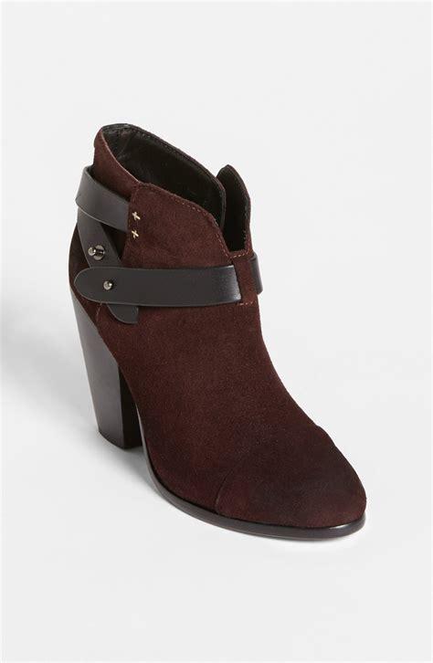 rag bone harrow boot in purple burgundy suede lyst