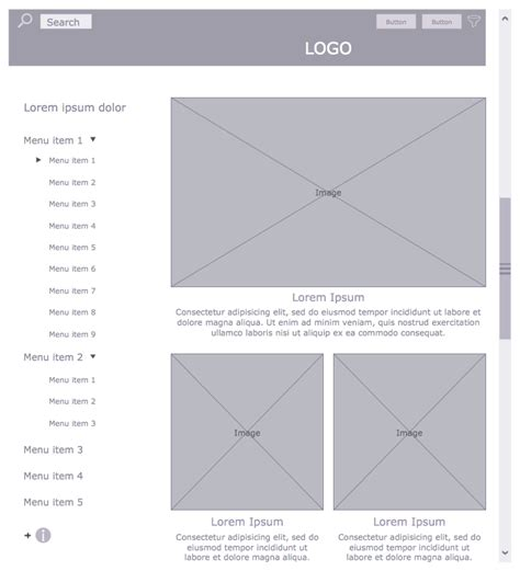 website wireframe solution conceptdraw