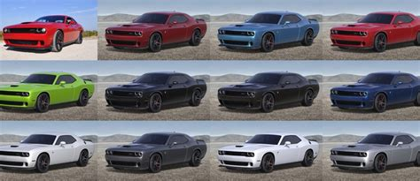 2015 dodge challenger colors 2016 dodge challenger srt hellcat