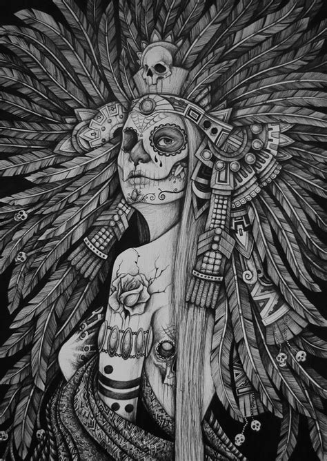 indian chief skull tattoo sugar skull indian chief tatuuuus