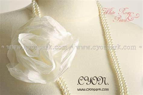 Kalung Korea Mutiara White Putih new accessories collection butik shop tas pesta belt wanita cyonpark