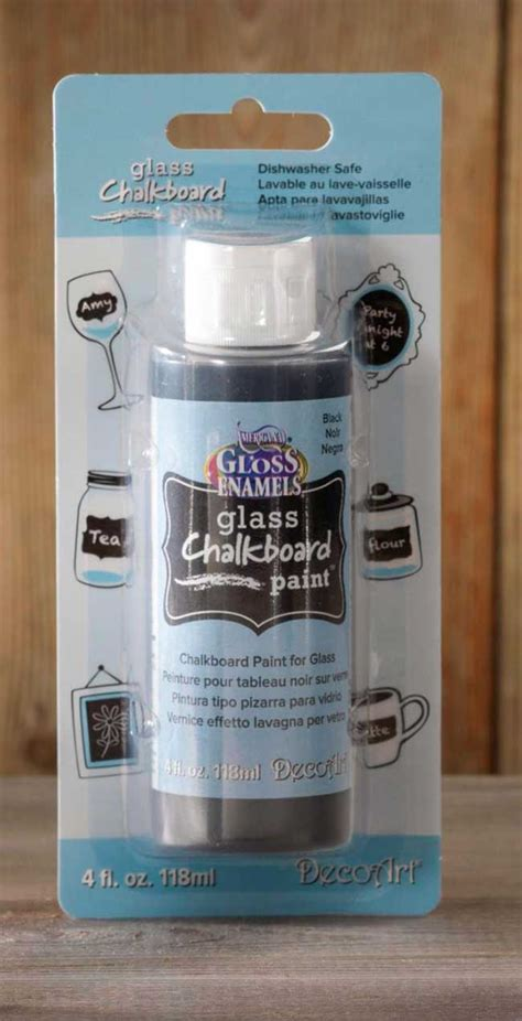 chalkboard paint for glass diy chalkboard bottles jars craft warehouse