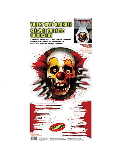 Horror Badezimmer Deko by Creepy Clown Klodeckel Aufkleber Als Badezimmer Deko