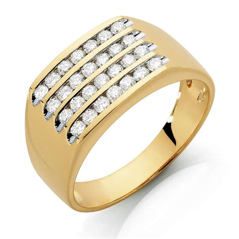 Mens Ring by S Ring With 1 Carat Tw Of Diamonds In 10kt Yellow Gold