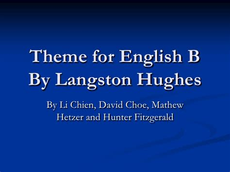 themes about english theme for english b
