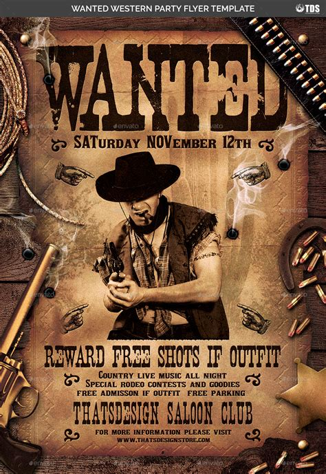 Western Party Flyer