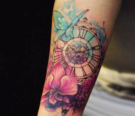 tattoo flower clock clock tattoo by versus ink post 15318