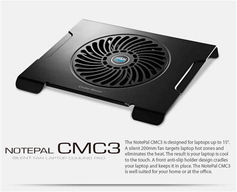 Vztec N19 Notebook Cooling Pad Vz Nc2166 81t6 cooler master notepal cmc3 silent fan laptop cooling pad black jakartanotebook