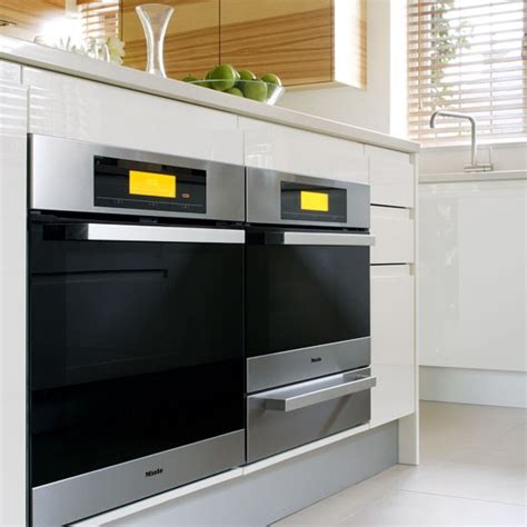 oven kitchen design built ovens tour a white and glossy parapan kitchen housetohome co uk