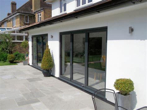 aluminium bifold patio doors aluminium bi folding doors folding sliding doors