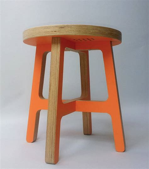 Orange Stool In Child by Personalised Child S Stool By Soap Designs