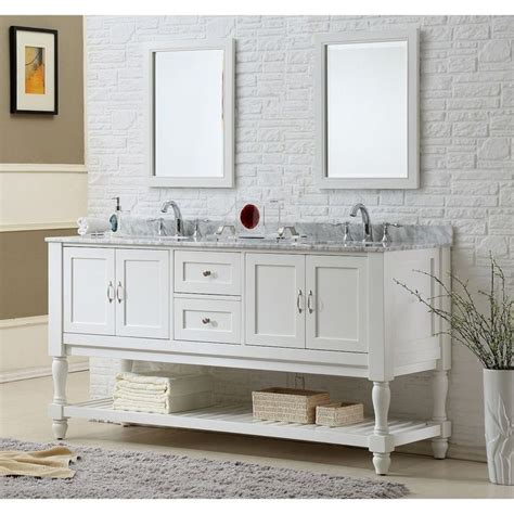 direct vanity sink 70 inch pearl white mission turnleg