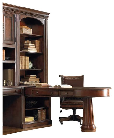 Peninsula Desk With Hutch by European Renaissance Ii Peninsula Desk And Hutch Cherry Transitional Desks And Hutches By