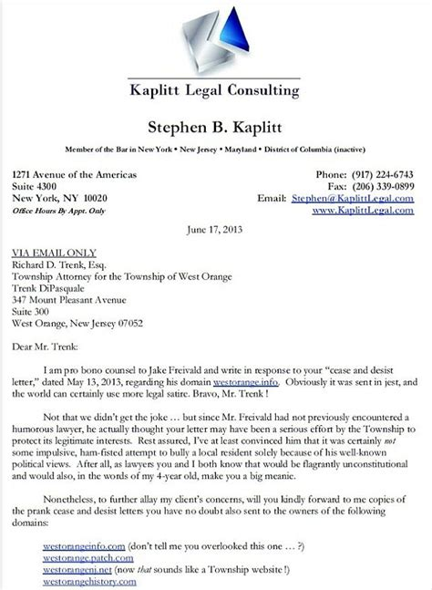 Divorce Client Letter You Big Meanie Lawyer S Hilariously Snarky Cease And Desist Response On Behalf Of Client Who