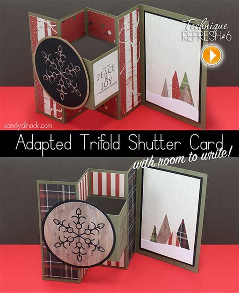 trifold shutter card templates http sandyallnock adapted trifold shutter card revisited allnock