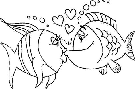 kissing fish coloring pages saltwater fish kissing coloring pages coloring pages