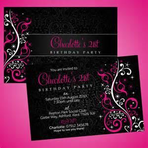 personalised 18th 21st 30th 40th birthday invitations ebay