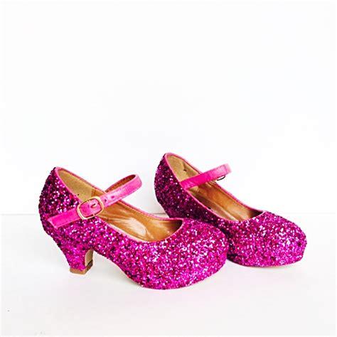 toddler glitter shoes pink toddler heel magenta