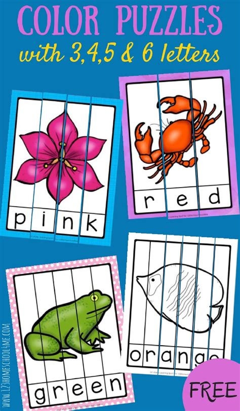 4 Letter Words Preschool free color word puzzles