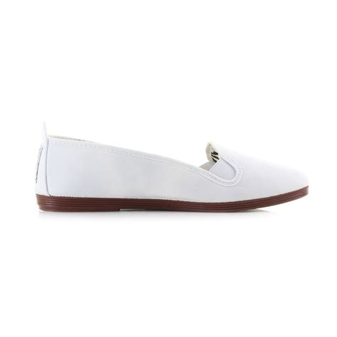 womens flat canvas shoes womens flossy mijas white casual plimsolls flat canvas