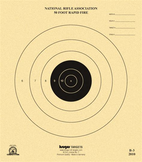 printable competition targets 50 foot rapid fire target nra b 3 nra official
