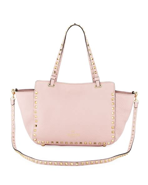 light pink tote bag lyst valentino rockstud mini tote bag light pink in pink