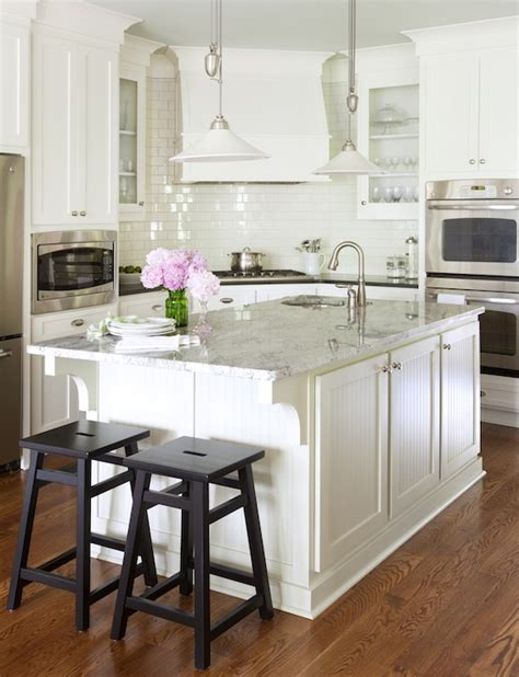 White Kitchen Island Granite Top by White Granite Countertops Cottage Kitchen Benjamin