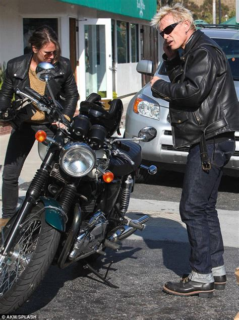 Billy Idol Motorcycle Accident | nice day for a black bike ride billy idol dons his