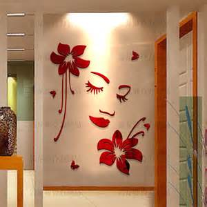 home decoration with paper romantic 3d three dimensional acrylic wall stickers