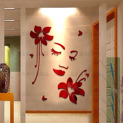Acrylic Home Decor 3d Three Dimensional Acrylic Wall Stickers Decoration Living Room Home Decor Bedroom