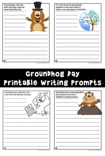groundhog day journal prompts writing worksheets archives woo jr activities
