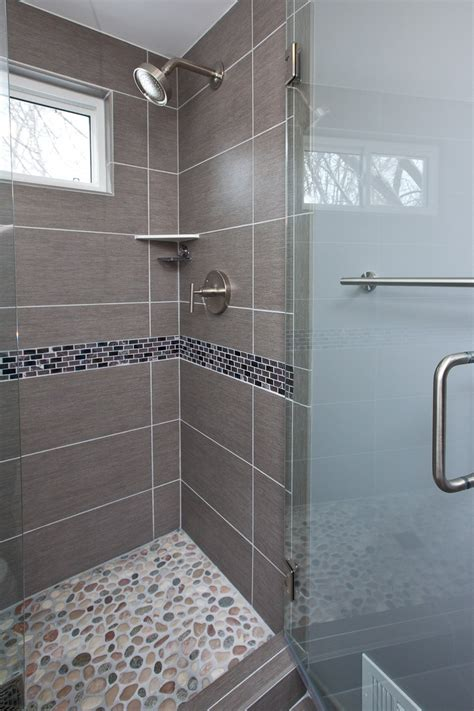 grey pebble tiles bathroom grey porcelain tile was chosen for the floor shower walls