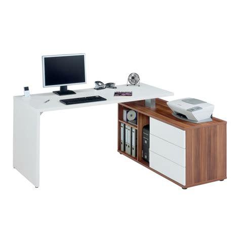 Schreibtisch 1 60 M by Winkelschreibtisch Mit Sideboard Wei 223 Nussbaum