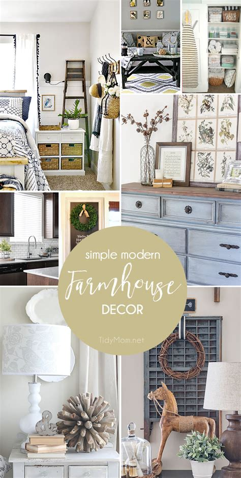 contemporary farmhouse decor simple modern farmhouse decorating tidymom 174