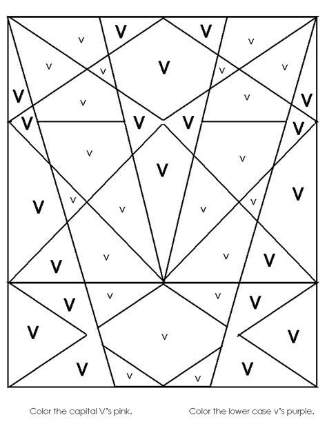 letter v coloring pages preschool hidden image worksheet alphabet recognition