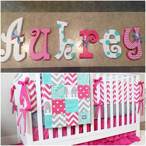 Decorative Letters For Baby Nursery Nursery Decor Nursery Wall Decor Hanging Nursery Letters