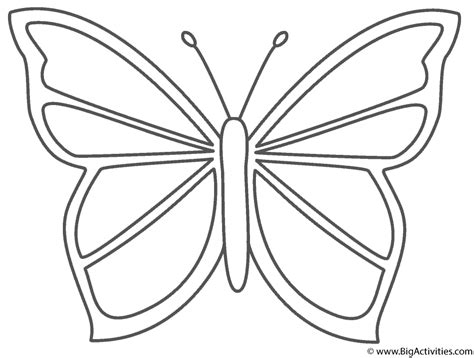 Coloring Pages Of Big Butterflies | beautiful butterfly coloring page insects
