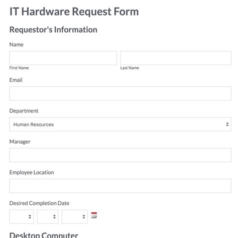it support request form template recruitment request form web form templates customize