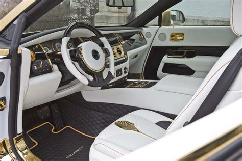 rolls royce gold interior mansory s rolls royce wraith palm edition 999 dazzles with