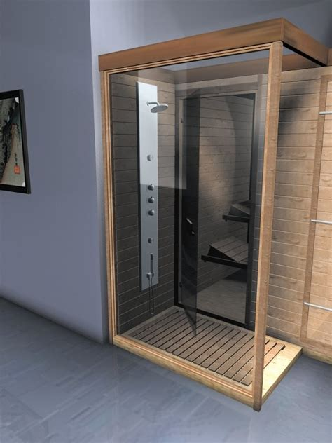 sauna con doccia sauna finlandese con doccia in abete nordico o betulla rossa