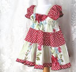 Handmade peasant baby dress size 3 6 9 12 18 months baby girl clothes